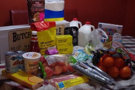No Spend January Groceries Lifeofbrucks.com