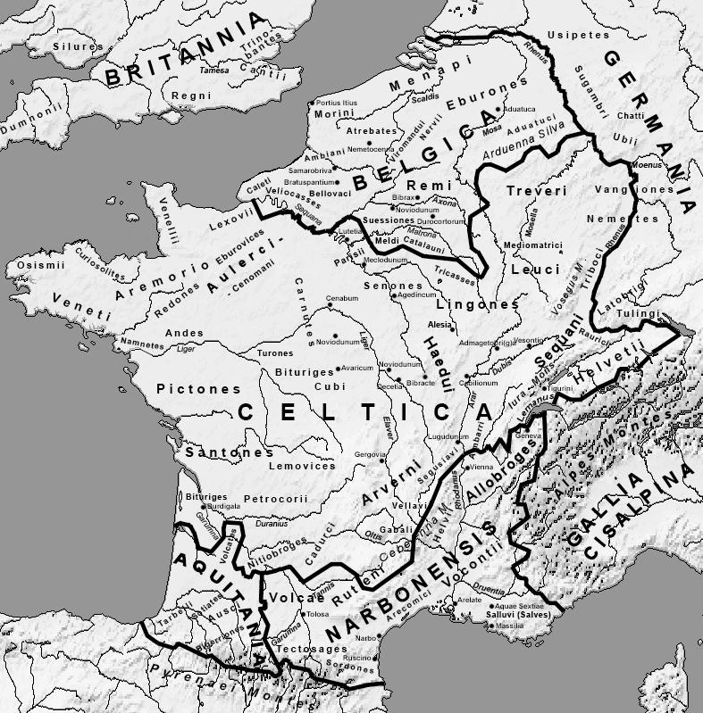 Julius Caesar Gaul map