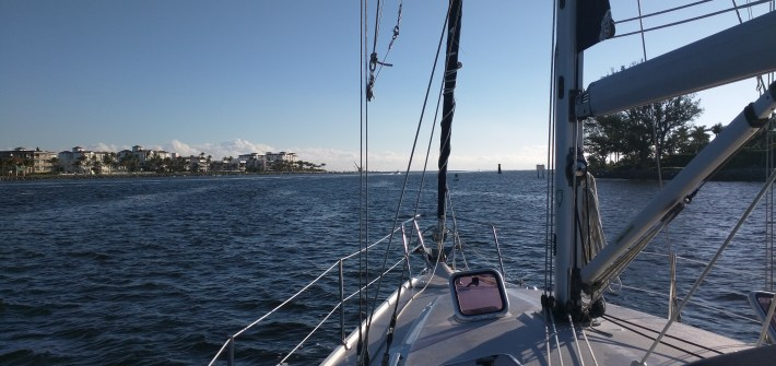 Heading out Lake worth inlet