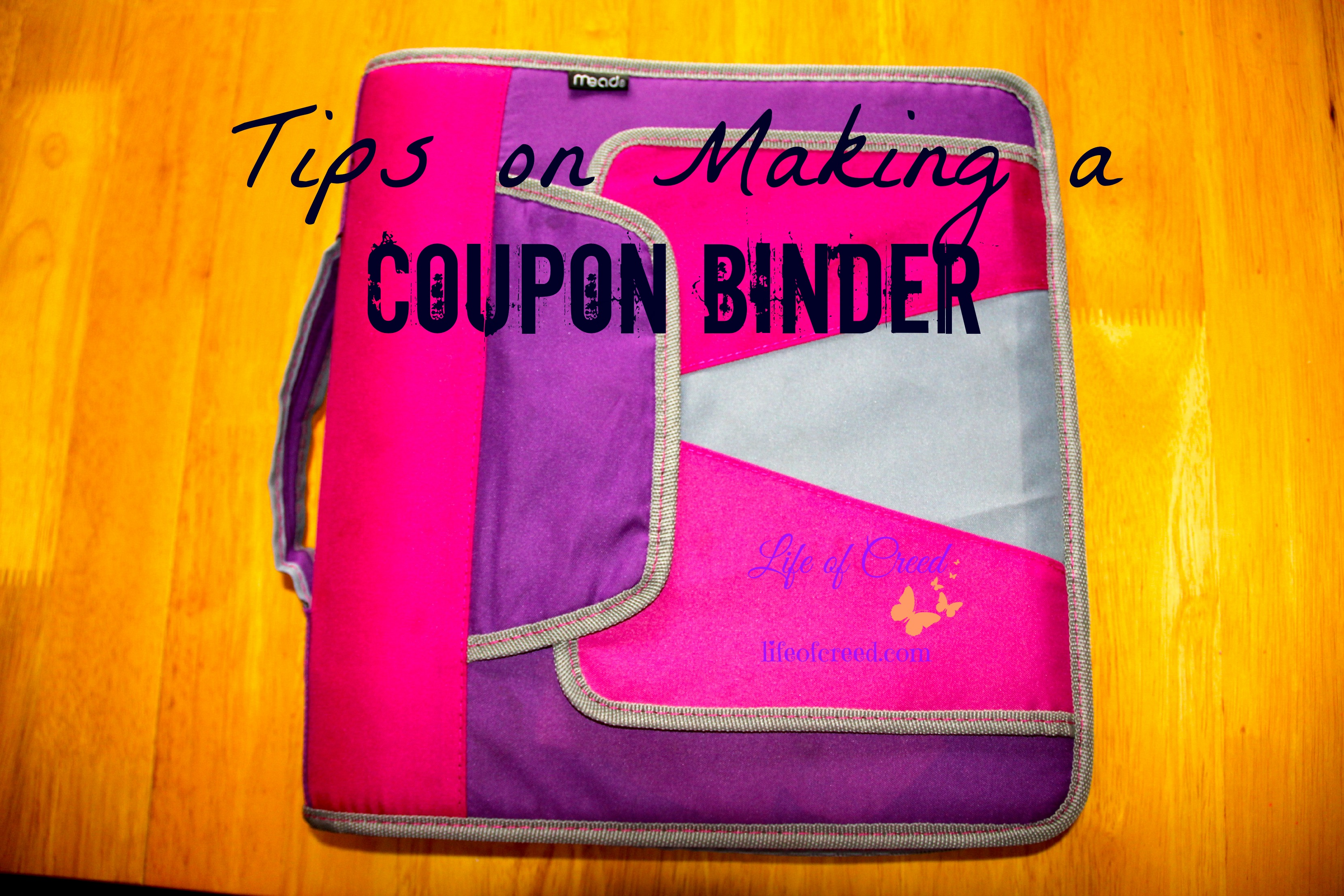 tips on making a coupon binder life of creed