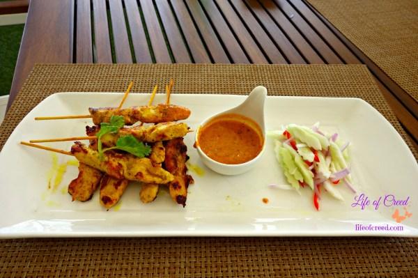 Satay Gai, chicken, Seacret, Phuket, Thailand, Katathani hotel