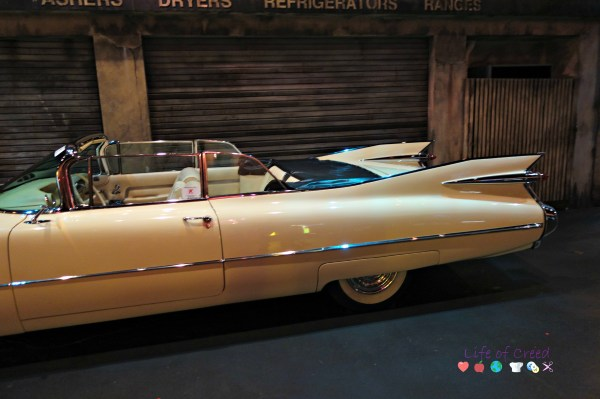 The car was so long, I had to take two pictures to get the whole car.  1959 Cadillac Series 62