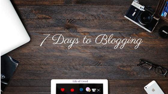 Start a Blog in 7 Days