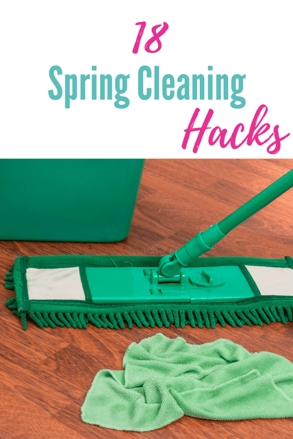 Here are 18 Spring Cleaning Hacks to make cleaning a breeze. Most of these items you already have in your kitchen or laundry room.