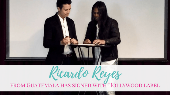 Ricardo Reyes from Guatemala has signed with Hollywood label