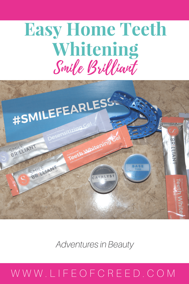 Easy home teeth whitening with Smile Brilliant. It's an at home teeth whitening, but able to get the same results as if you went to a professional.