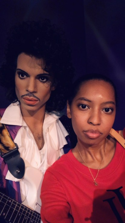 Jay from Life of Creed with Prince max figure at the Hollywood Wax Museum Pigeon Forge