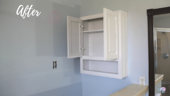 White wall cabinet.