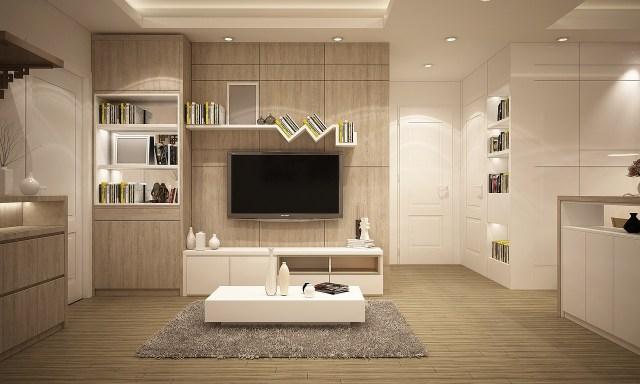 Well lit living room.