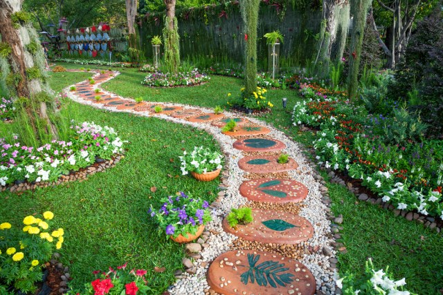 . If you are looking at landscaping practically, you should invest in flowers and plants that bloom all year long.