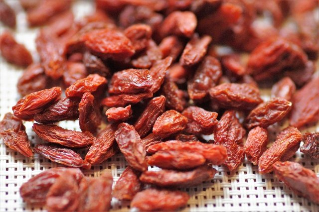 Goji berries are a great source of carbohydrates for energy and amino acids that can help provide your body with enough protein.