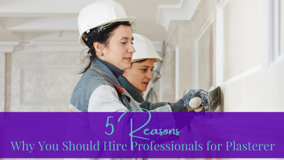 5 Reasons Why You Should Hire Professionals for Plasterer