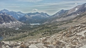 Looking north on the Pacific Crest Trail/ John Muir Trail