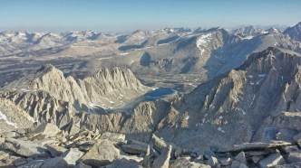 From the high point, the cirques and ridges look amazing and otherworldly.