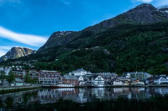 The Small Town of Odda, Norway