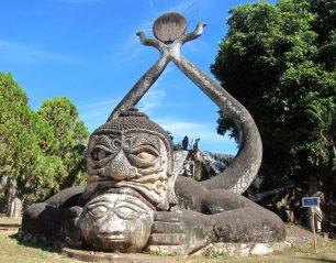 Strange Sculptures at Buddha Park in Vientiane, Laos