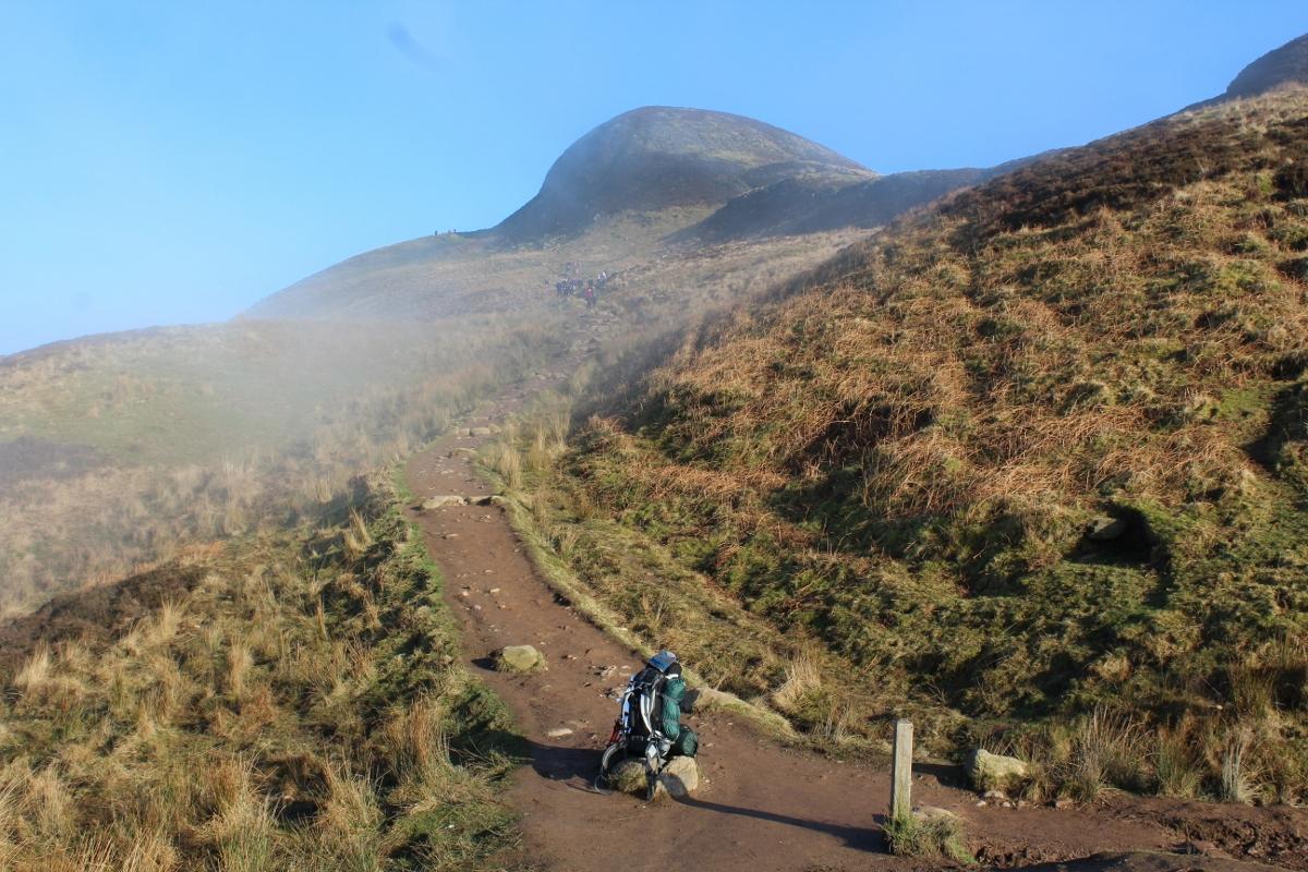 Climbing Conic Hill