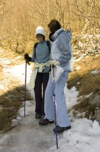 Winter Hiking: Burns about 445 calories if your backpack is below 10 lbs