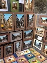 The paintings being showcased by the artist's friend, as seen in El Rastro.