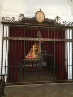 The room in which toreros (bullfighters) pray before they enter the ring.