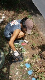 Planting bean and pumpkin seeds in Vale do Canela.