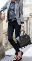 Workwear Ideas: Grey Blazer, Flat shoes | Life of Lala | https://lifeoflala.wordpress.com/