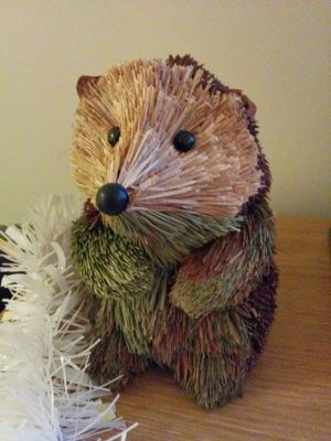 Christmas hedgehog from Homebase