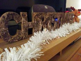 Wooden Christmas sign from Homebase
