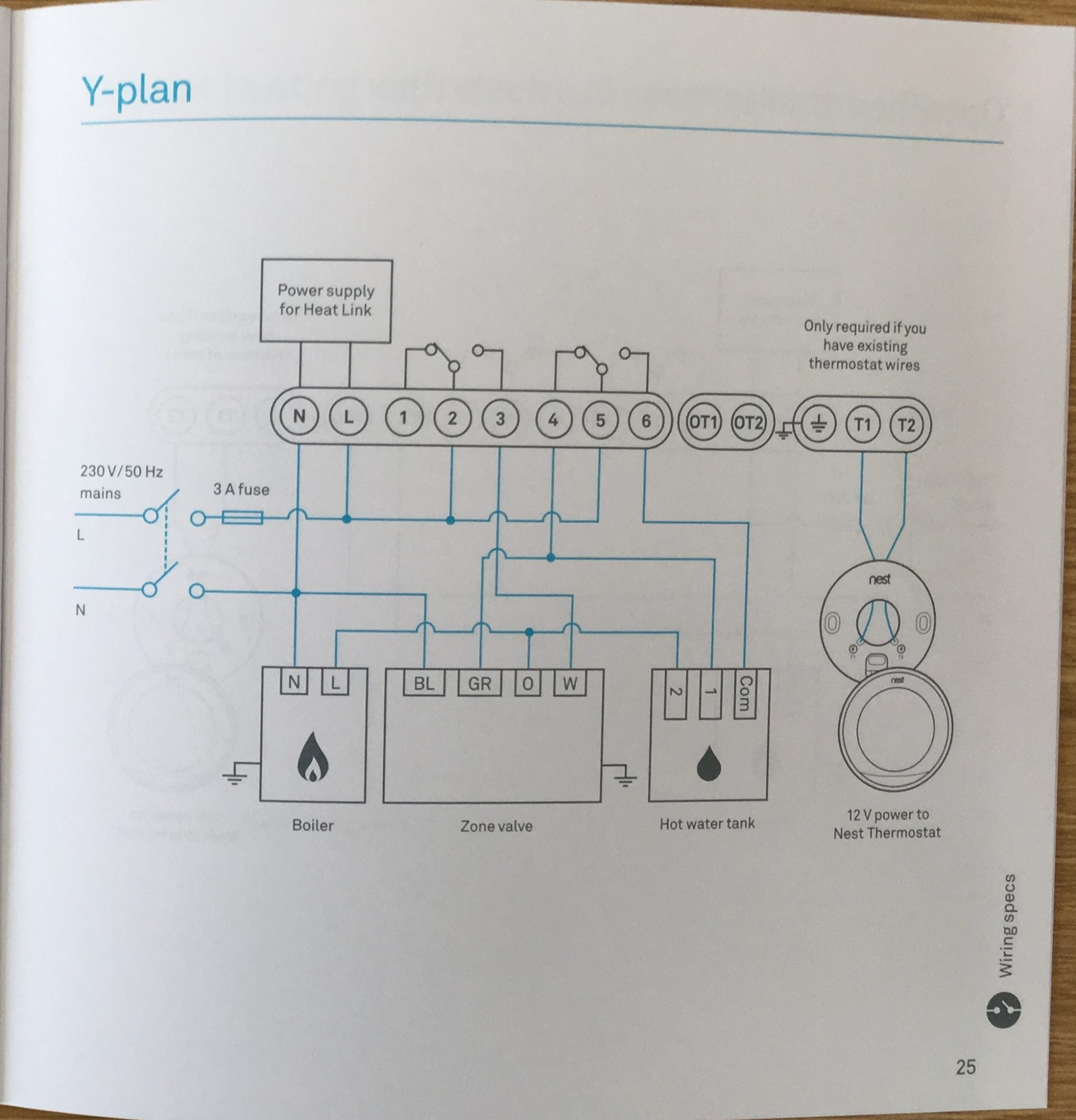 Heating System Diagram On Wiring Diagram For Central Heating Y Plan