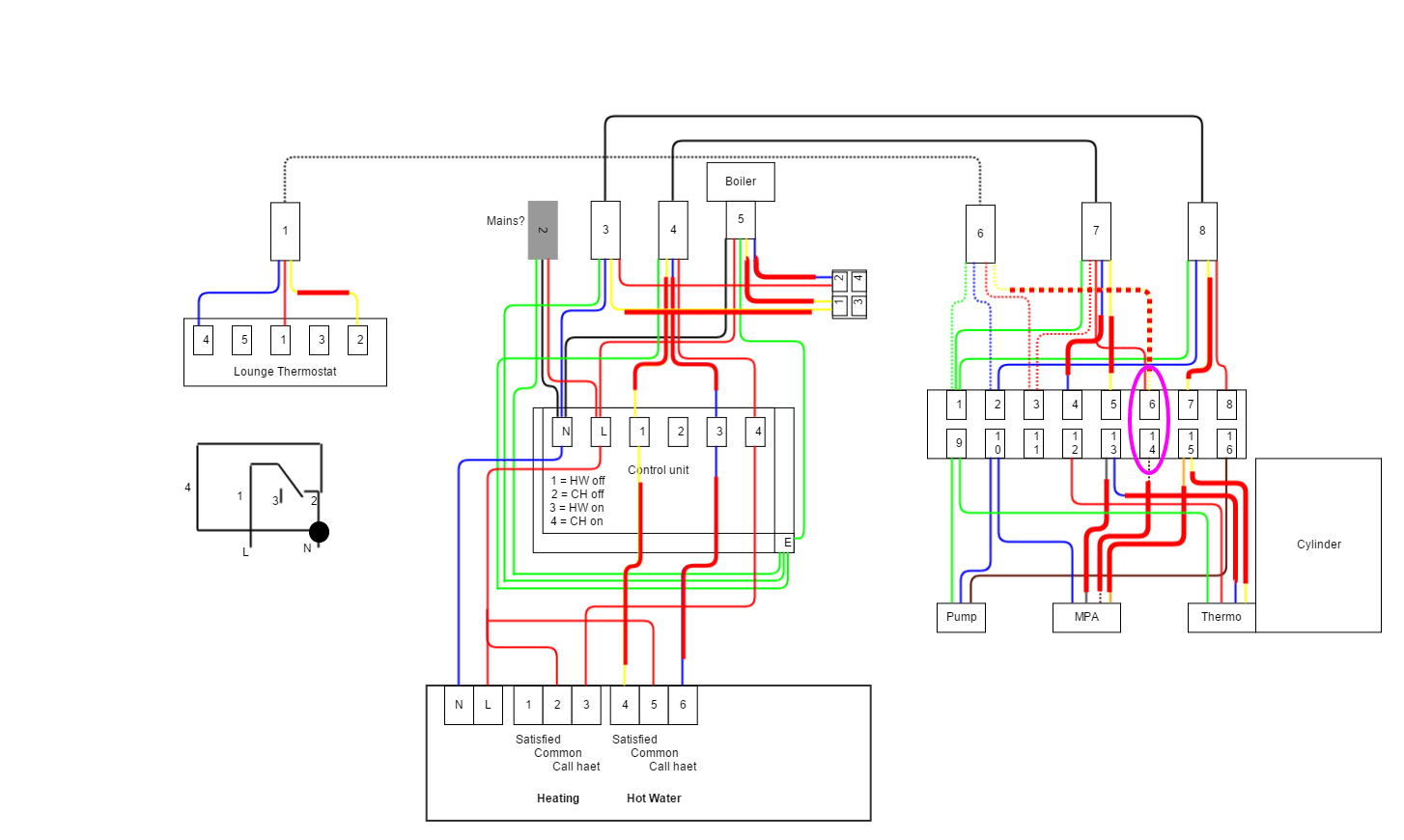 hight resolution of y plan central heating system wiring