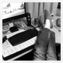 Today is all about...feet up catching up on everything