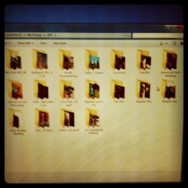 Today is all about...organising the photo albums