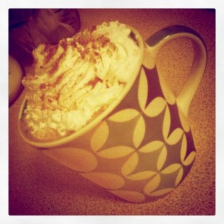 Today is all about...hot chocolate before bed