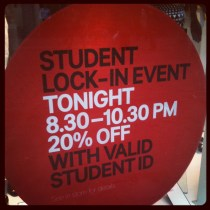 Today is all about...student lock-in at work