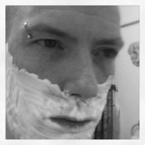Today is all about...making Chris happy by having a wet shave