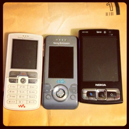 Today is all about...recycling old phones