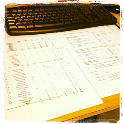 Today is all about...Trying to get my head round Gantt charts
