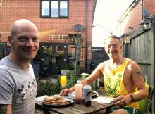 Two mean alfresco dining