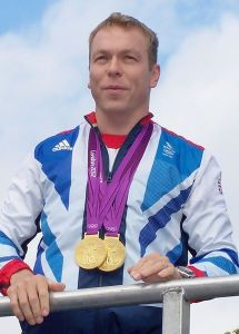 Chris Hoy, Olympian Cyclist with his 2012 medals