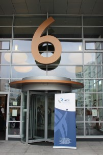 The entrance to the Hague Conference building