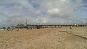 View of De Pier and the new ferris wheel