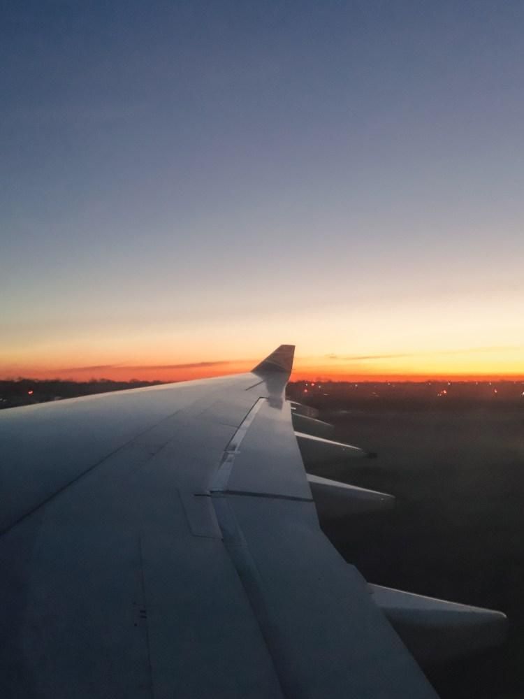 New York morning, landing in New York Ciry