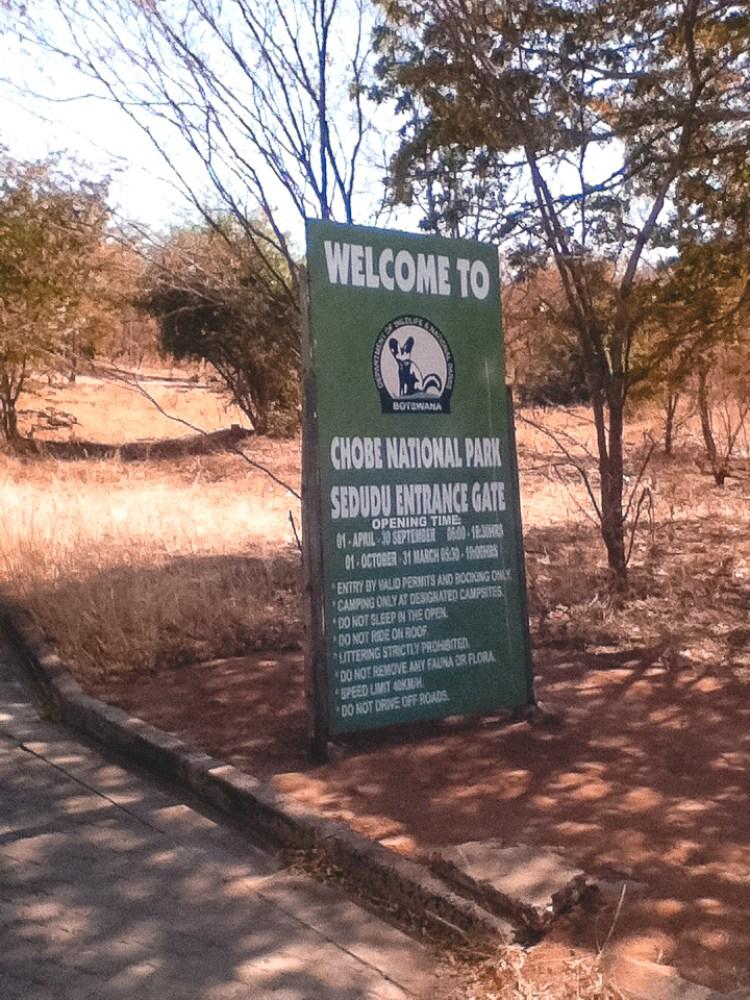Chobe National Park, Botswana, Sedudu Entrance Gate