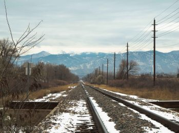 Train tracks to Boulder