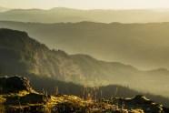 dawn arrives on Greenleaf Mountain