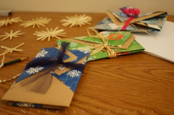 kinpu inspired card wrapping