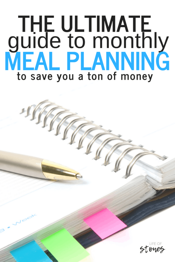 These awesome tips helped me conquer monthly meal planning! Planning for an entire month freed up so much time in my schedule! Meal planning for my family once a month also helped me save a ton of money!