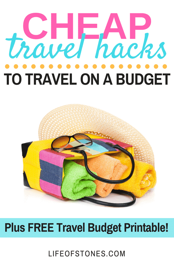 Try these awesome cheap travel hacks to save a ton of money when you travel! If you are on a debt free journey or need to stick to a budget when you vacation then check out these helpful tips! I have never thought about using some of these before plus you can download a free travel budget planner to help plan your trip and stick to your vacation budget!