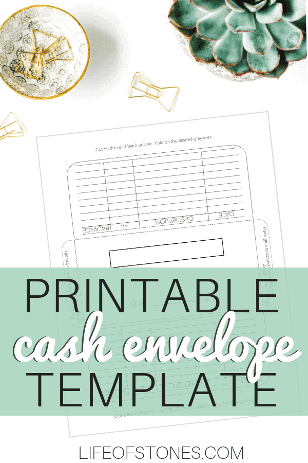 This template is perfect to use with Dave Ramsey's cash envelope system! I've been wanting to make my own cash envelopes! Now I can print as many as I'd like! I use bright colored paper and print in all different colors! It even has a register tracker on it so I can keep track of all my transactions. I can also add my budget category and set a savings goal as well! #budgeting #cashenvelopesystem #budgetprintable #lifeofstones