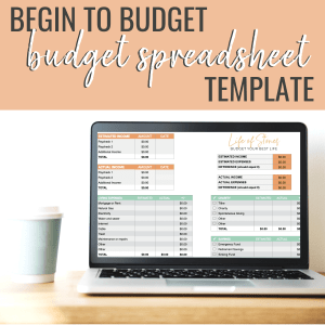 Budgeting spreadsheet from Life of Stones